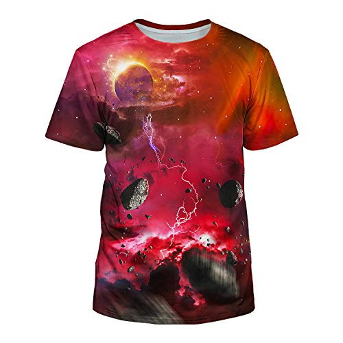 Kayolece Unisex 3D Graphic Galaxy T Shirt Printed Galaxy Short Sleeve Shirts M ()