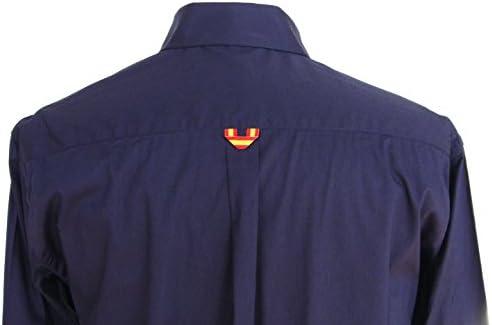Pi2010 Camisa Bandera de España Hombre Marino con Cuadro escoces, Fabricado en España Talla M: Amazon.es: Ropa y accesorios