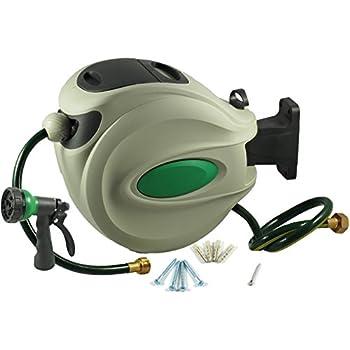 ikris retractable garden water hose reel 120 foot hose 12 diameter - Retractable Garden Hose Reel