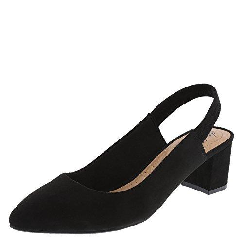 Sling Black Shoes - dexflex Comfort Black Suede Women's Stevie Sling 9.5 Regular