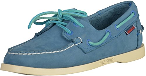 Sebago MenS MenS Docksides Blue Nubuck Leather Shoes Leather Blue