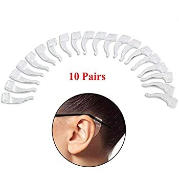 Amazon.com: AKOAK 10 Pairs Clear Silicone Anti-Slip Ear