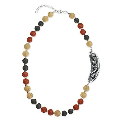 Earth Beaded Necklace - NOVICA Silver Plated Beaded Necklace, 2.4