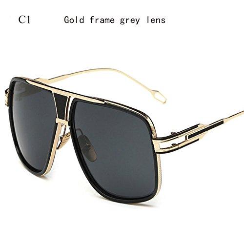 Sobredimensionado De Limotai Hombres De C1 Gafas Lente Cuadrado Gafas De Solnuevo C6 Gafas Degradado Conductor De Superior Gafas Espejo HztzqwB
