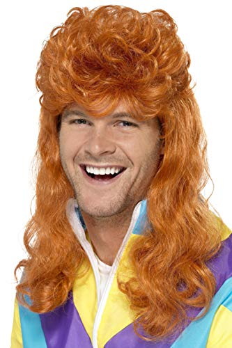 Smiffy's Men's 80's Ginger Mullet Wig, One Size, 43655 -
