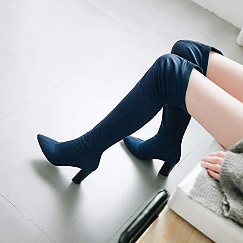 Bleu Upxiang Bottes Upxiang Femme Pour Bottes Pour pwWqxH8YB