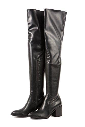 Jeffrey Campbell Damen Stiefel Overknees Markham Gr. 37 Schwarz 37