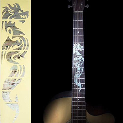 Toolso Electric Acoustic Guitar Inlay Sticker the Dragon Fretboard Markers Sticker Decal -