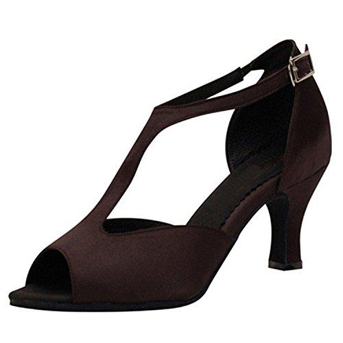 Chaussures Dance Danse Tango 40 Brown Femmes Danse 6CM YFF Latine Dance Cadeaux UgEawtxn8