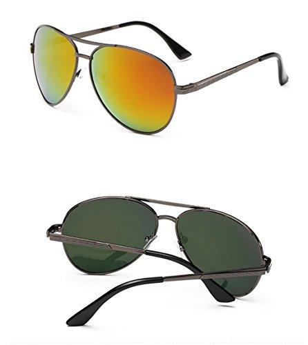 Hombres Sol de del de Gafas los de Conductor WYJL del Color polarizadas Sol Conducción Espejos Gafas Gafas 4 Sol 6 Colorido de Color Clásicas Gafas de zxq7p
