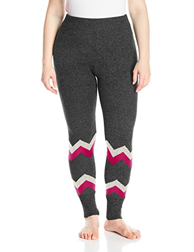 Hottotties Women's Plus Size Sweater Legging, Mix Charcoal, 2X