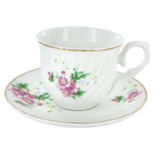 Summertime Gardens Tea Cups and Saucers - Set of 6 ()
