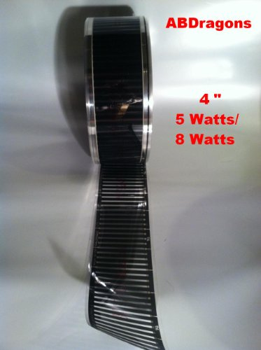 4'' Wide / 5 WATTS / 22 Foot Long Flex Watt Heat Tape by flex watt