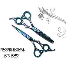 "professional Hairdressing hair Barber thinning Scissors shears set 6.0"" TITANIUM"