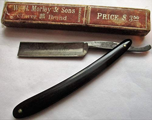 (W. H. Morley & Sons Imperial Clover Brand Antique Straight Razor)