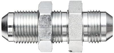 "Eaton Aeroquip 2041-8-8S Bulkhead Union, JIC 37° End Types, Carbon Steel, 3/4 JIC(m) End Size, 1/2"" Tube OD"