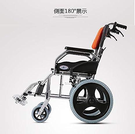 Amazon.com: SHIJING Silla de ruedas plegable luz anciana ...