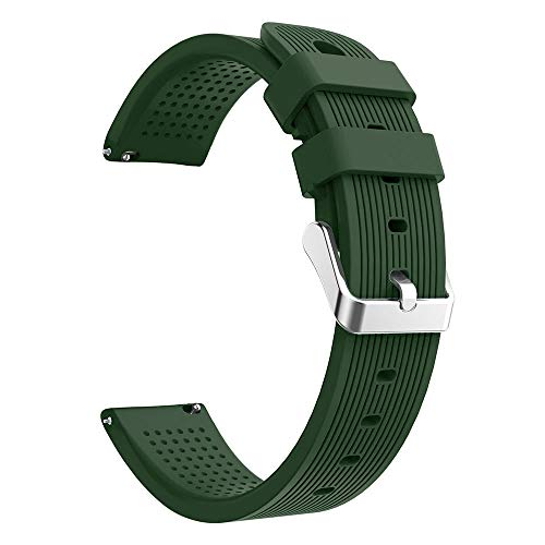 (Huangou for Samsung Galaxy Watch Wrist Straps,Accessory Replacement Sport Soft Silicon Accessory Watch Band Wirstband for Samsung Galaxy Watch 42mm (Free, Army Green))