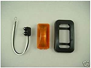 United Pacific Amber 15 LED Rectangle Marker Park Turn Signal Lights//Grommets//Wire Pigtails