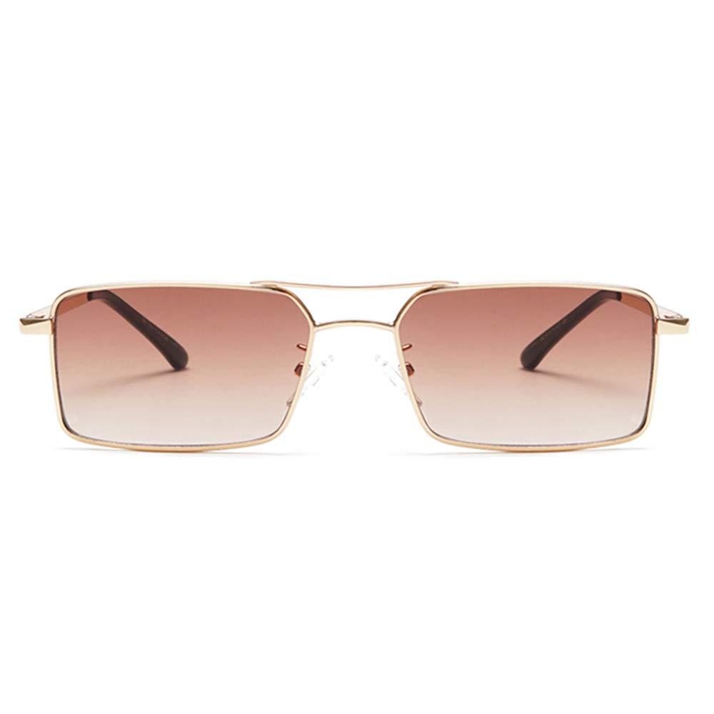 Vintage Sunglasses for Men Retro Women Mens Sunglasses Fashion Square Sun Glasses (Gradient Brown) by GOBIGER