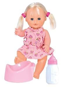 Famosa Babyland 30cm Bebé Pipí Niña - Muñeca que hace pipí con orinal y biberón (30 cm)