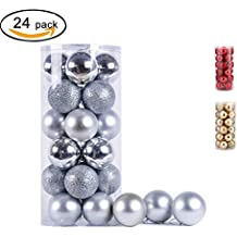 24 Pack Christmas Ball Ornaments Exquisite Shatterproof Balls Pendant for Holiday Wedding Party Decoration