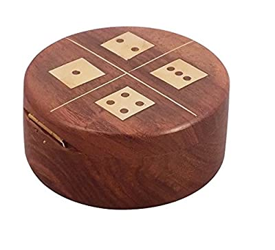 Crafts'man Handcrafted Dice Box Set with 5 Dice