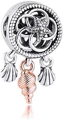 PANDOCCI 2020 été ajouré Coquillage Attrape-rêves Perle 925 Argent  Bricolage Convient aux Bracelets Pandora Originaux Charme Bijoux de Mode