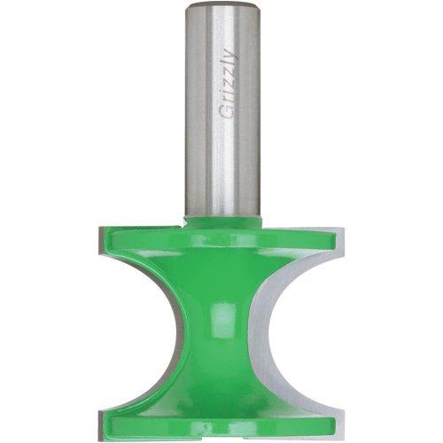Grizzly C1032 Bul Length Nose Bit, 1/2-Inch Shank, 1-5/8-Inch Cutter Diameter Diameter Beading Router Bit