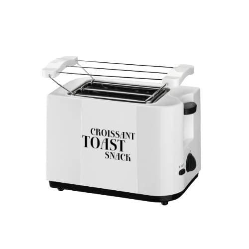 Team TO 46 W Toaster 2 Fentes Fonction Annulation Thermostat Électronique Support Viennoiseries Coloris Blanc