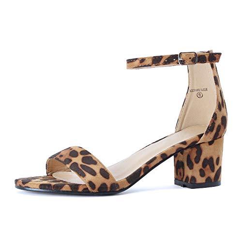 (Guilty Shoes - Jean 08 Leopard Suede, 7.5)