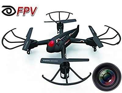 """Haktoys HAK908F 17"""" Diagonal FPV (WiFi Real-Time Video) Camera 2.4GHz 4CH Headless Mode RC Quadcopter, 6 Axis Gyroscope, Loop Function, Led Lights, Rechargeable, Ready To Fly"""