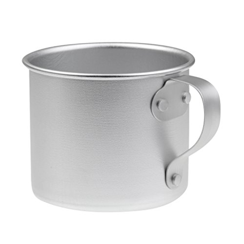 Jili Online 0.3L 10.6oz Durable Portable Aluminum Coffee Tea Mug Cup - Camping/ Travel/ Outdoor Aluminum Mug