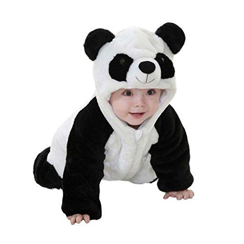 potato001 Baby Boys Girls Winter Warm Panda Costume Newborn Infant Toddler Jumpsuit Romper size 0-6Months -