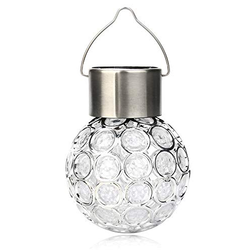 ️ Yu2d ❤️❤️ ️Waterproof Solar Rotatable Outdoor Garden Camping Hanging LED Round Ball Lights