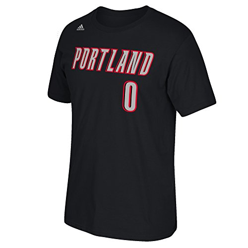 NBA Portland Trail Blazers Damian Lillard #0 Men's Game Time Short Sleeve Go-To Tee, 2X-Large, - Mens Portland Fashion
