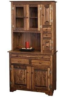 Pine Hoosier Cabinet (Special Walnut Stain)
