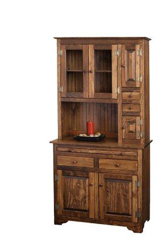 Pine Hoosier Cabinet (Special Walnut - Kitchen Hoosier Cabinet
