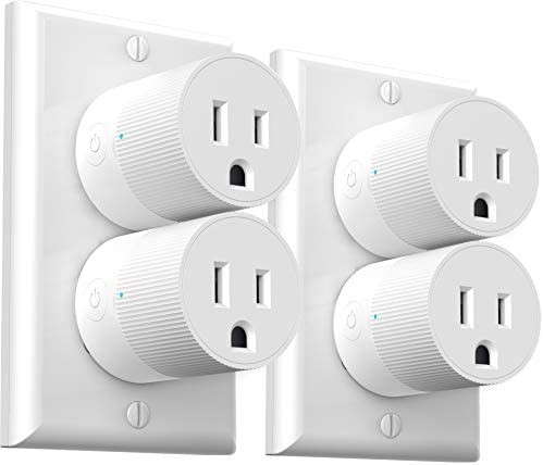 Smart Plug Amysen - A Certified Compatible with Alexa, Echo & Google Home – Only WiFi 2.4G (Z2 4 Pack)