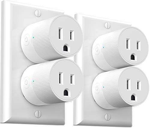 Smart Plug Amysen - A Certified Compatible with Alexa, Echo & Google Home – Only Cloud Intelligence App - Only WiFi 2.4G