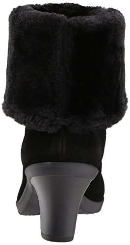 Anne Klein AK Sport Women's Heward Suede Fashion Boot, Black Suede, 8.5 M US