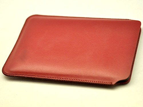 Ceocase for 2016 Kindle Oasis with Leather Charging Cover New Luxury Pouch Slim Sleeve bag (Red)