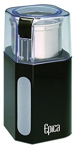 Epica Electric Coffee Grinder & Spice Grinder -Stainless Steel Blades and Removable Grinding Cup for Easy Pouring- Strongest Motor on the Market For Fastest and Most Efficient Grinding …