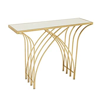 """Deco 79 65550 Metal Mir Console Table, 41"""" x 31"""""""