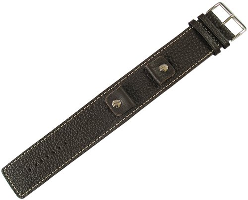 Fluco Vigo 19mm Riveted Brown Leather Watch Strap by Fluco