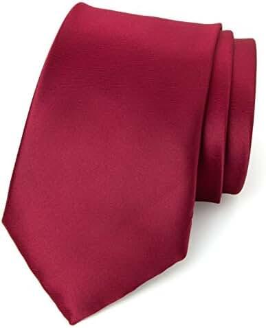 Spring Notion Men's Solid Color Satin Microfiber Tie