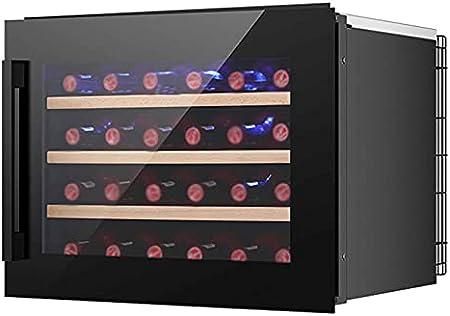 YUN Nevera para Vinos De Compresor,Nevera De Vinos, Refrigerador Bebidas con Panel Táctil Y Pantalla LED para Bebidas Enlatadas Refrescos Cerveza O Vino(Capacidad: 24 Botellas)