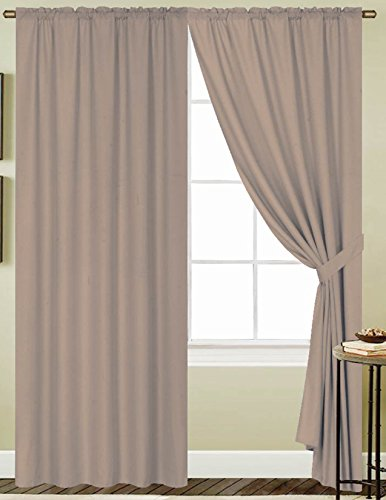 RT Designers Collection Kennedy Rod Pocket Window Curtain Panel, 54 by...
