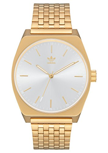adidas Watches Process_M1. 6 Link Stainless Steel Bracelet, 20mm Width (Gold/White Sunray. 38 mm). ()