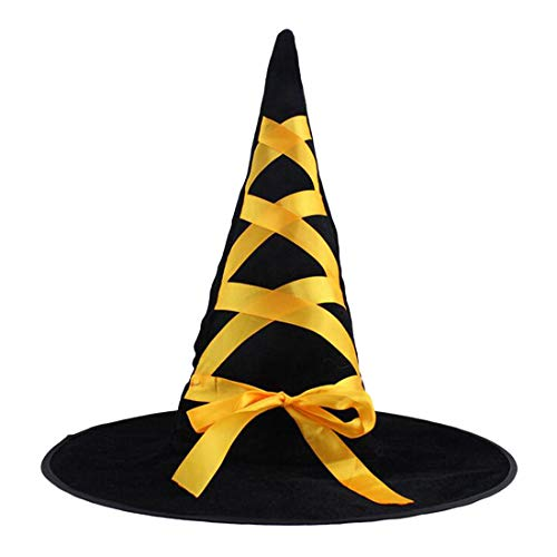 Witch Broom - Party Decoration 1pc Adult Womens Cool Black Witch Hat Accessory Props - Pack Makers Rainbow Roll Space Little Street Gangster Girls Color Large Bulk Assorted Jungle Donuts Boy